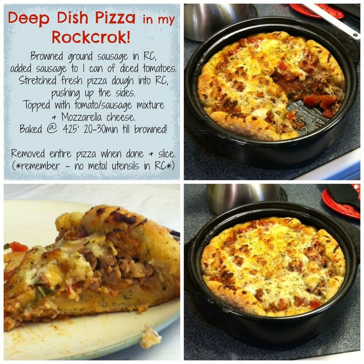 Deep Dish Rockcrok Pizza www.pamperedchef.biz/bethblystone | All things Pampered Chef ️ ...