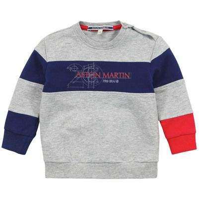 Aston Martin - Grey sweatshirt with contrast patches - 67000