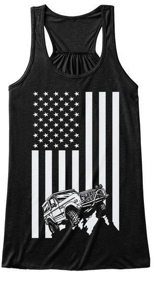 Bronco Truck Flag Women's Tank Top Black