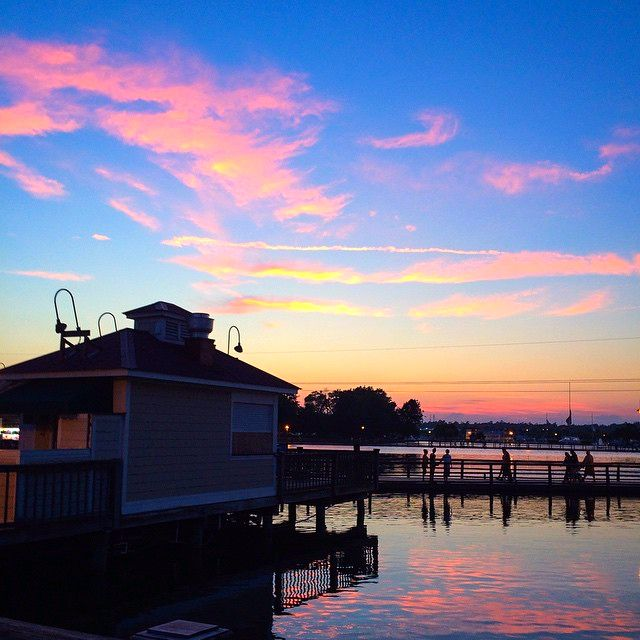 Barefoot Landing, North Myrtle Beach, South Carolina - Where an amazing sunset is a bonus to your shopping experience! Shop, dine and play at Barefoot Landing!   (Photo via Instagram by @straitup214)