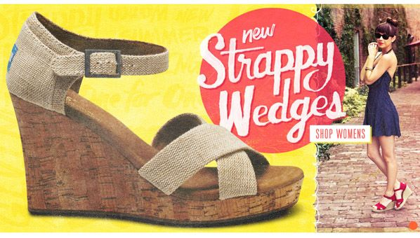 TOMS Strappy Wedges: Toms Wedges So, Toms Launch, Toms Wedges Cheap, Toms Shoes, Strappy Wedges, Toms Wedgecheap, Toms Strappy, Toms Wedgeso, Wedges Cheap Toms