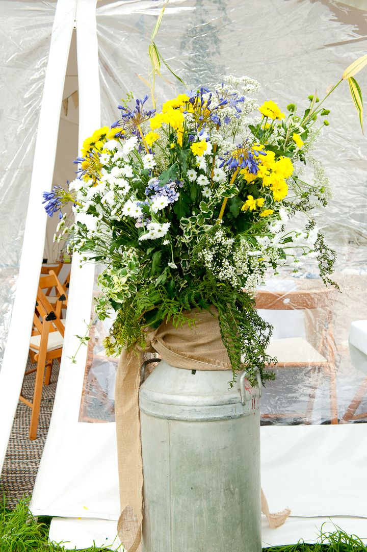 Katie and Jonny's Relaxed Festival Style Farm Wedding with Loads of DIY Details by Anthony Ball
