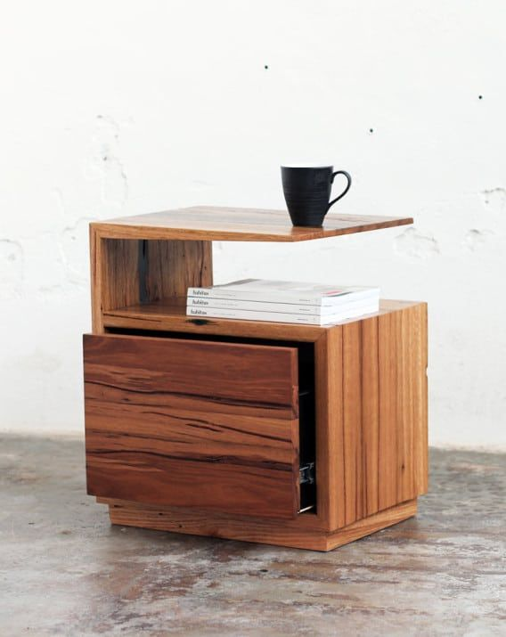 De Vine Side Table   Recycled Timber Furniture Melbourne, Yard Furniture
