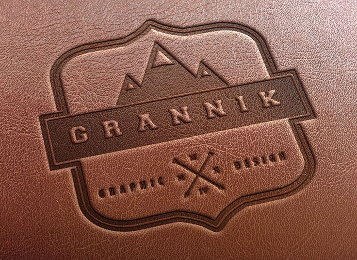 egaevans: create your name,logo, or your text into 3D Leather Stamping design for $5, on fiverr.com
