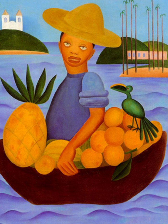 Obra 'Vendedor de Frutas' de Tarsila do Amaral de 1925 / Crédito: Divulgação