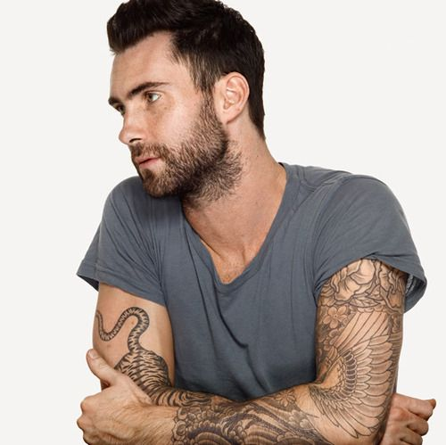 Adam Levine, Maroon 5. Those tattoos, that voice, those ...