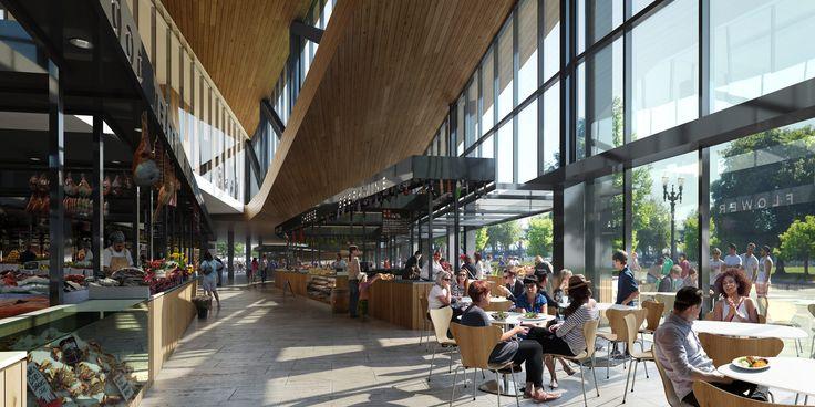 Imagem 3 de 4 da galeria de Snøhetta projeta novo mercado público para Portland. Fotografia de Snøhetta