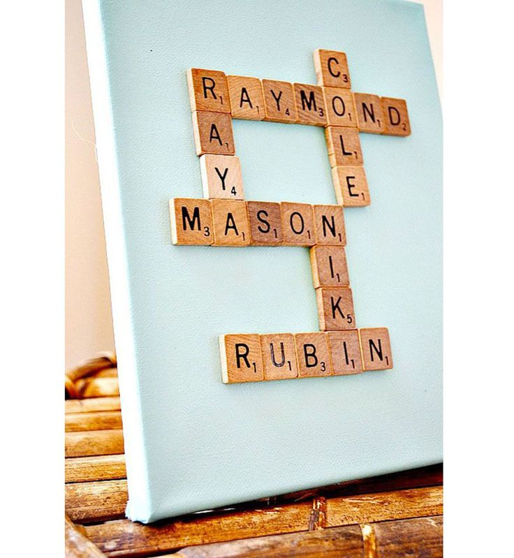Cadeau DIY : un tableau personnalisé Scrabble©