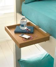 I need these for the upstairs bunks!  Wooden Bunk Bed Shelf | The Lakeside Collection
