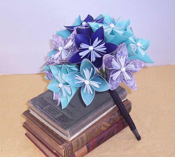Paper flower wedding bouquet MADE TO ORDER by cottagelakegifts, $49.99