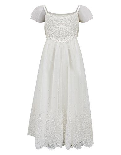 Monsoon Girls Glitter Estella Dress Size 6 Years Ivory Monsoon http://www.amazon.com/dp/B00NJF81YK/ref=cm_sw_r_pi_dp_qrkEub0R0MXVD  they only have size 6 but we could get it altered? so cute.