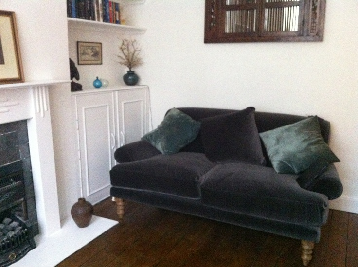 The Sofa.com Saturday 2 Seater In Elephant Velvet Looks Picture Perfect  Here In Its New Home! | {sofa Sightings} | Pinterest | Gothic Interior, ...