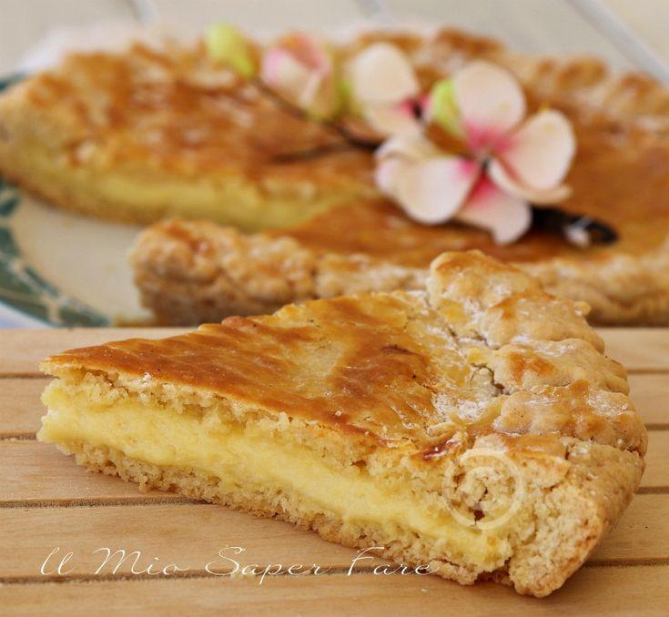 "Torta basca alla crema ricetta facile ""Gateau basque"""