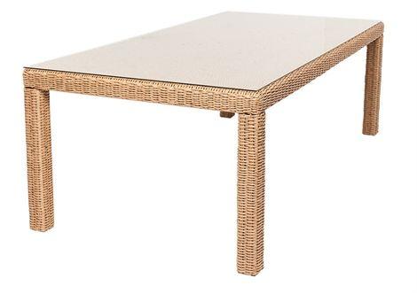 Vela Wicker Table 1.8 x 1.1m Hyacinth