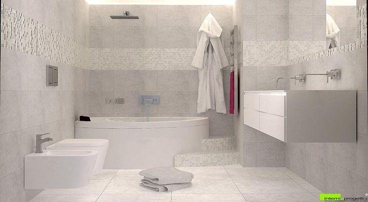 Photorealistic Render - White Bathroom