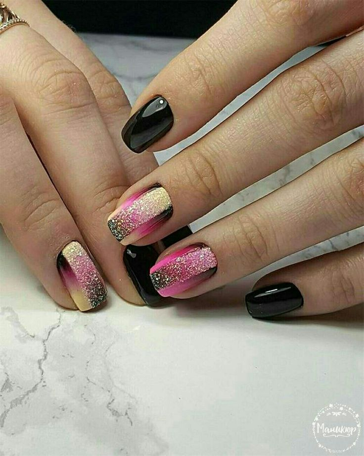 Love these focal nails! by ?? artist?