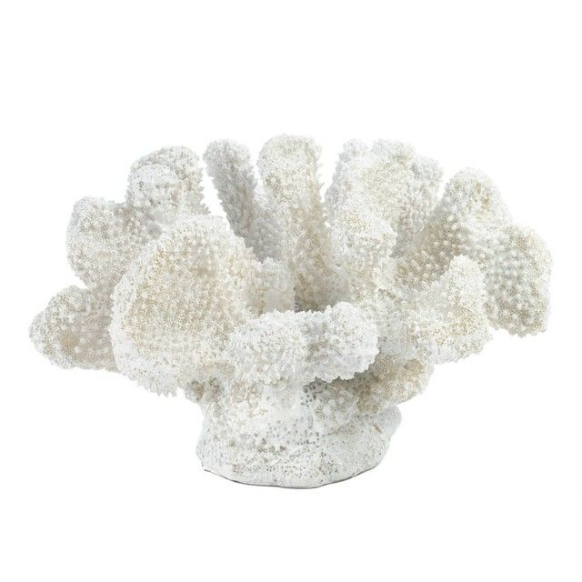 A little bit of oceanfront style goes a long way when it comes to room accents. This pretty coral-like statue features fantastic texture and a fresh white finish that will liven up your space. Small White Coral Decor by Rustica House. #myRustica