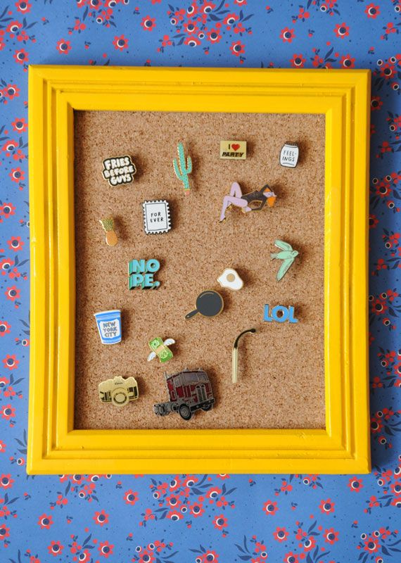 If there's any more charming way to display a collection of enamel pins, we haven't seen it yet. Check out all the steps for this (easy!) DIY, courtesy of the brilliant @amandakingloff, now on the Etsy Blog.