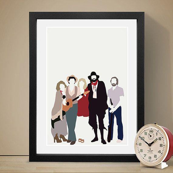 Fleetwood Mac Poster Music Poster People Art Print by LawandMoore