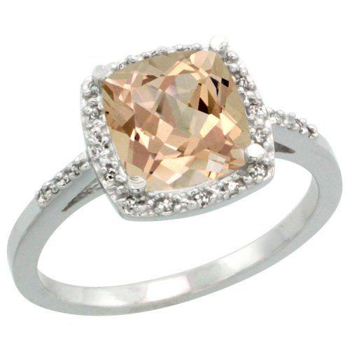 Revoni Sterlingsilber Morganit und Diamant Ring, Kissenschliff Stein (8 mm) Revoni http://www.amazon.de/dp/B009ZDIDMU/ref=cm_sw_r_pi_dp_VNEjwb09EYTTG