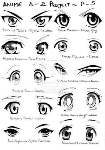 Aqui te tengo diferentes tipos de ojos de mujeres para que hagas los mejores dibujos de anime