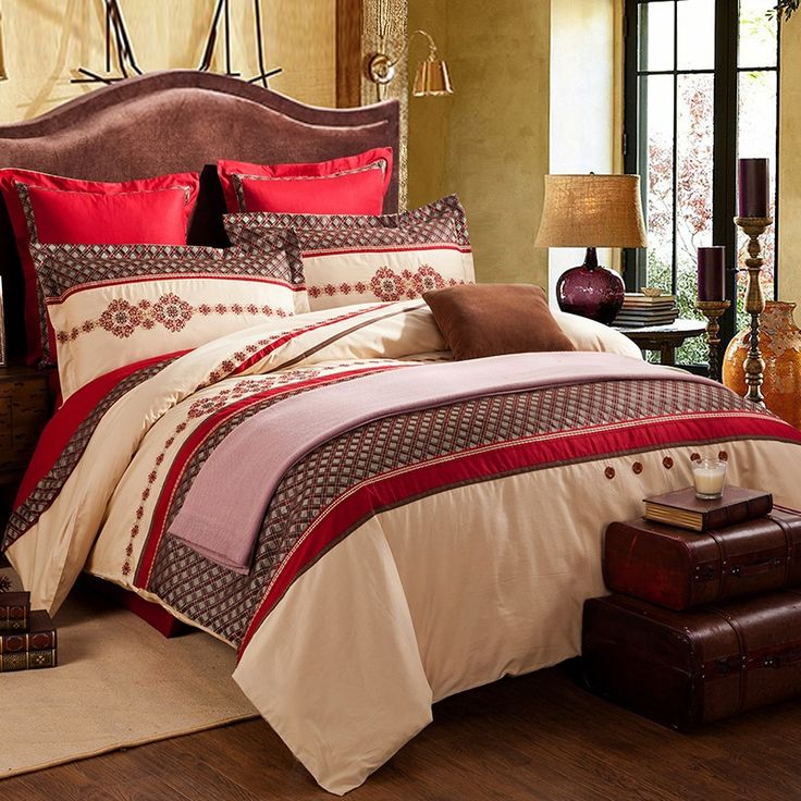 Red And Tan Bedroom Ideas