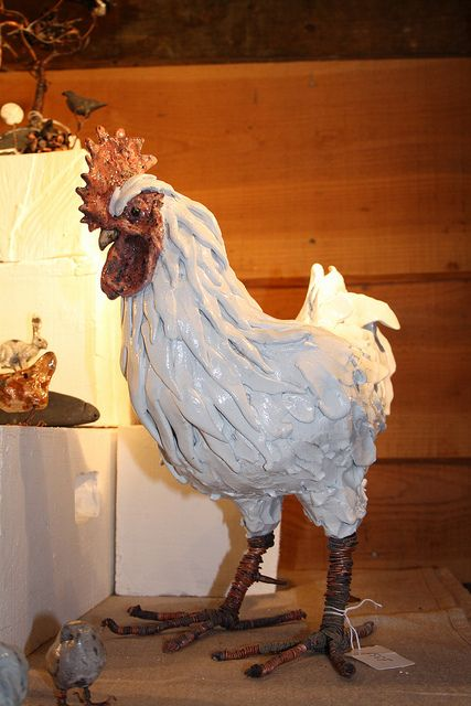 white cockerel by Joe lawrence art work, via Flickr