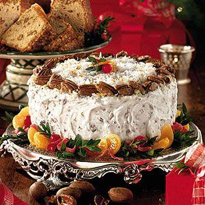 Our Best Christmas Cakes  | Fresh Orange Italian Cream Cake | MyRecipes.com
