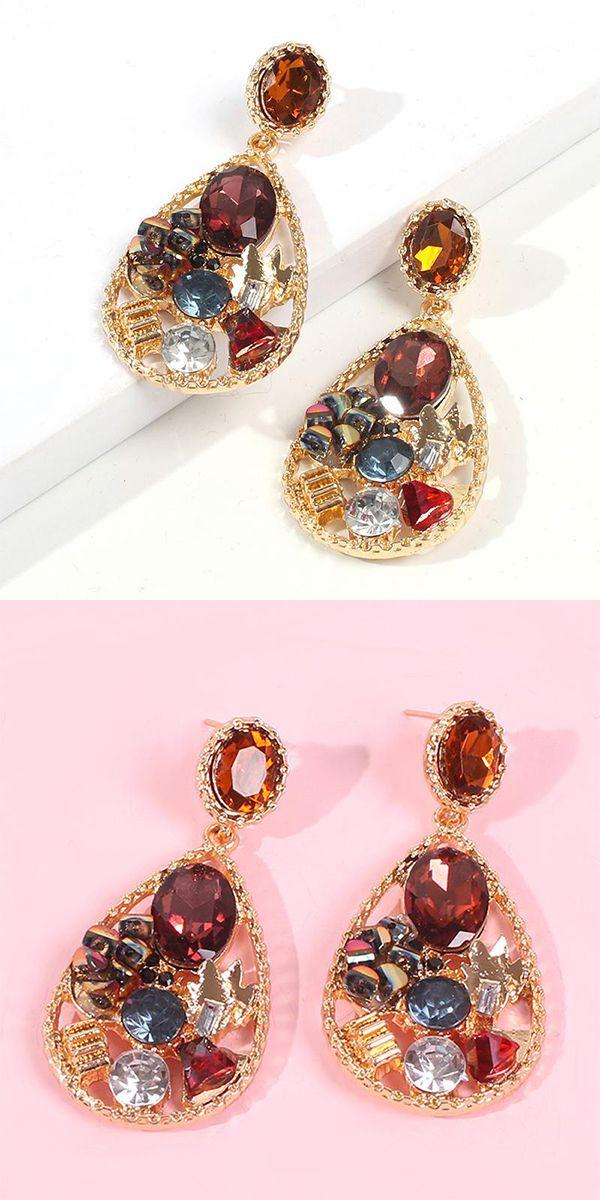 Fashion Luxury Diamond Drop Earrings