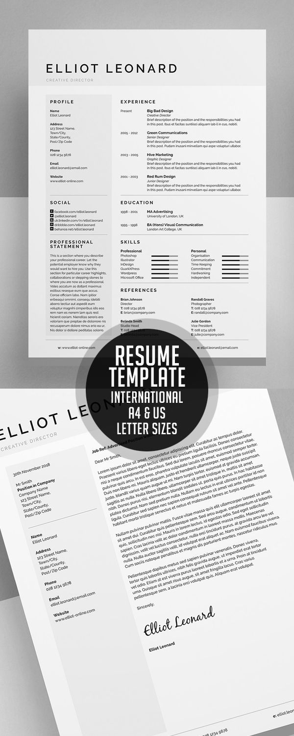 Modern Resume Templates Blogs Pinterest Resume Templates