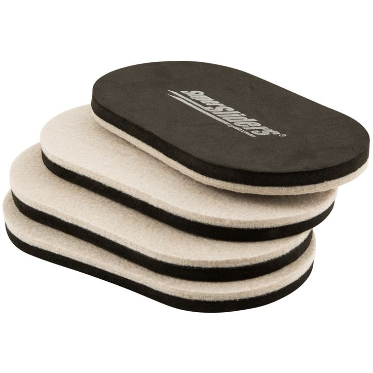 """SuperSliders 4705295N Furniture Movers & Sliders For Heavy Furniture For Hard Floor Surfaces (4 Pack) - Felt Oval 9-1/2"""""""" x 5-3/4"""""""""""