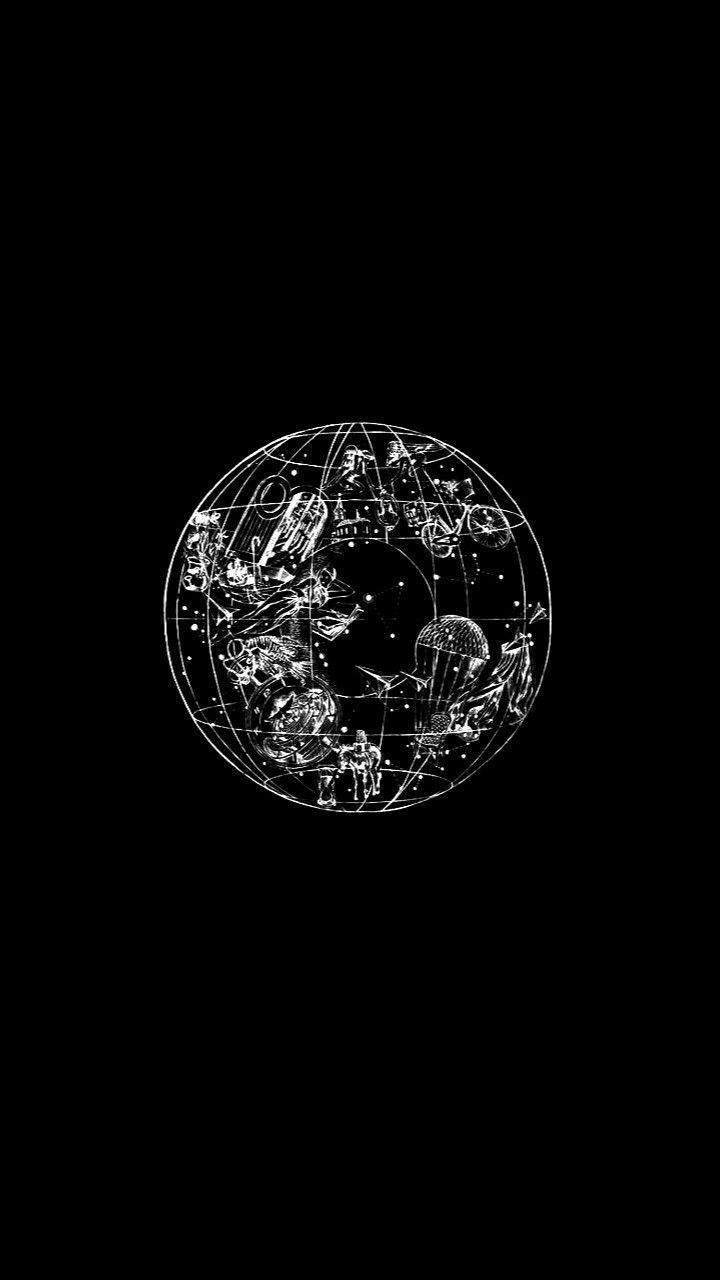 Black Font Black And White Circle Illustration Monochrome
