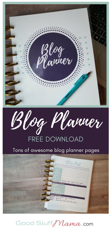 The Best Blog Planner Free DownloadGood Stuff Mama   Planning + Papercraft