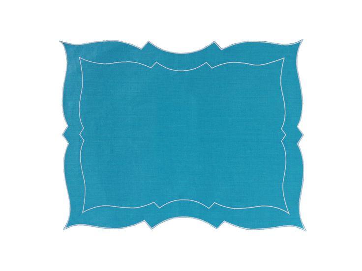 Tovaglietta - Placemat Parentesi Rettangolare - 773 turquoise