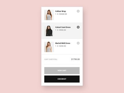 Free Shopping Cart PSD UI kit