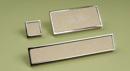 Shagreen cabinet handles