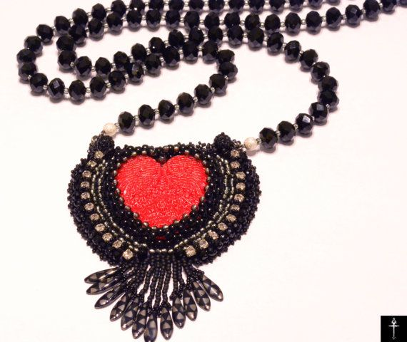 Hip Hop Jewelry-Seed Bead Necklace Beadwork Necklace by BYTWINS