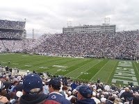 Beaver Stadium and Penn State vs Northwestern College Football Game.