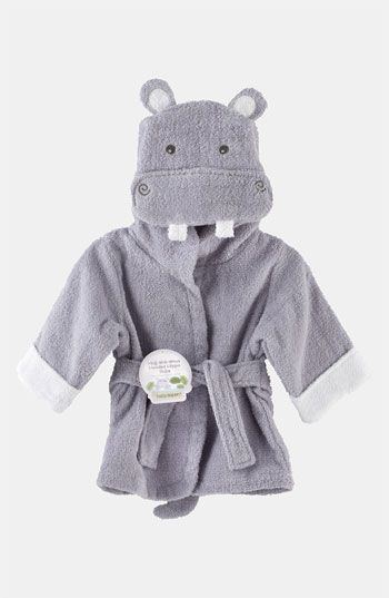 Baby Aspen 'Hug a Lot Amus' Hooded Robe (Infant) available at #Nordstrom