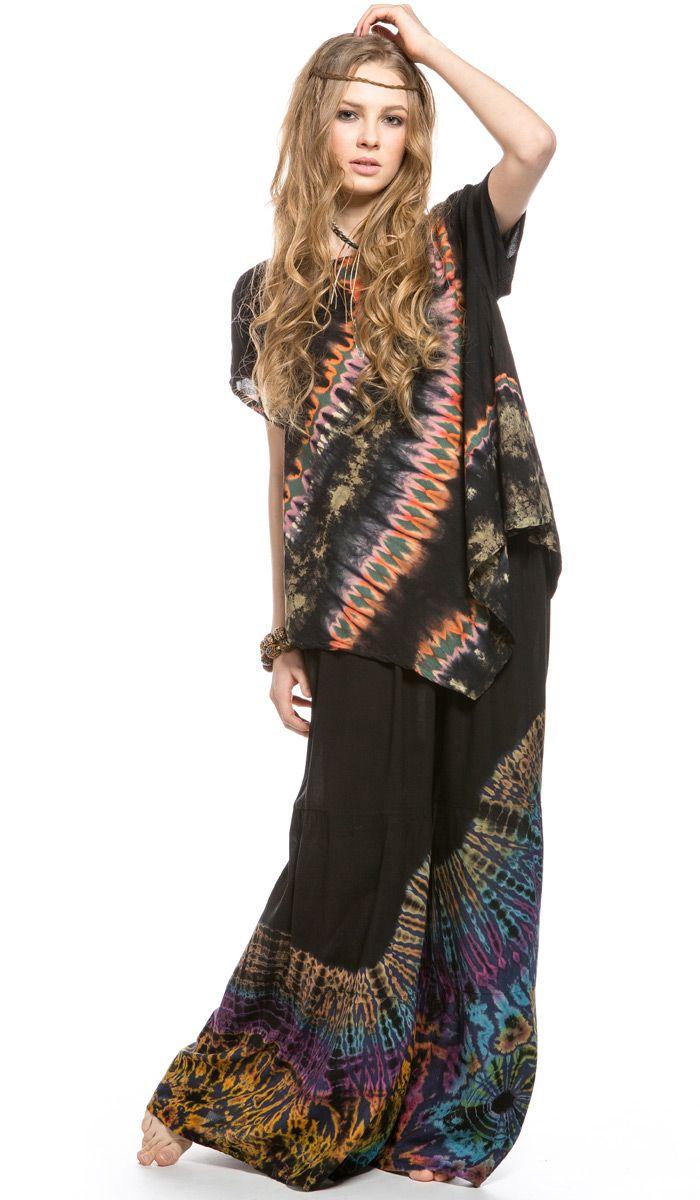 Юбка брюки Вдохновение, свободные штаны, этническая одежда, тай-дай, узелковый батик. skirt pants, India clothes, tie-dye 3820 рублей