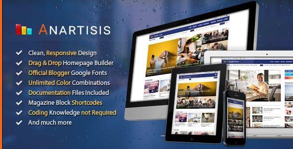Download Anartisis Premium Blogger Template Blogger Templates Free Blogger Templates Blogspot Template