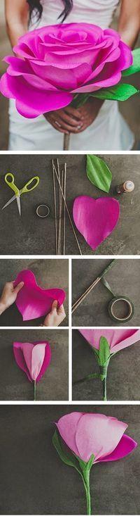 .   .   Olá meninas, tudo bem? Como estão de férias? A ideia de hoje é uma super flor de papel crepom feita a partir de um coração,...