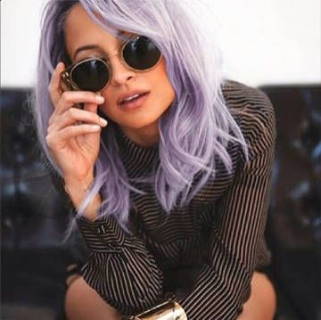 Nicole Richie Instagrams her faux lavender locks. She looks good with her faux  lavender locks .