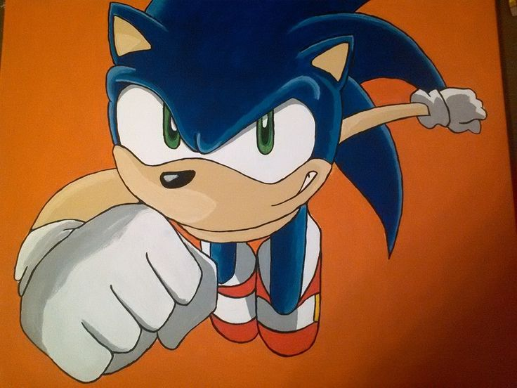 Painted Canvas- Sonic The HedgeHog