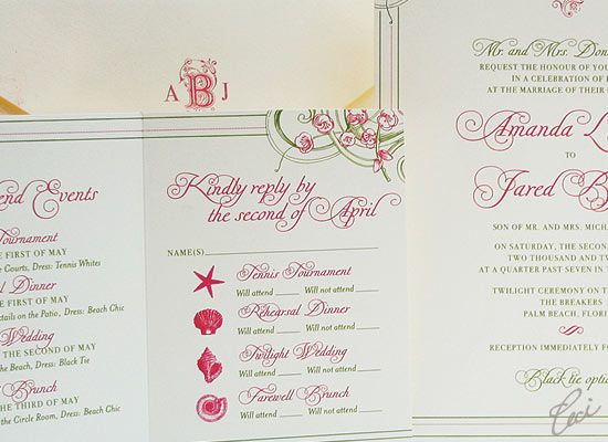 Hook holland wedding invitations