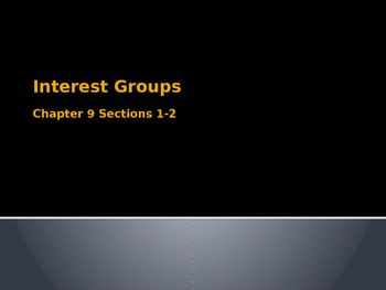 Complete lesson about interest groups and their role in American politics. This zip folder contains a standard lesson plan, a strategic lesson plan, a PowerPoint presentation on interest groups with activity instructions, documents to be used in the activity (list of interest groups and printable checks), a rubric for students to use during the activity, and an alphabet handout (fill in vocabulary, key terms/concepts, etc.) to use before or after instruction as a formative assessment.