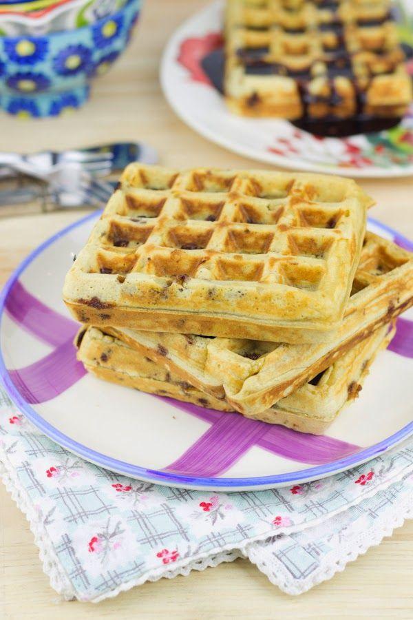 Objetivo: Cupcake Perfecto.: Gofres con chips de chocolate (y sorteo!!!)