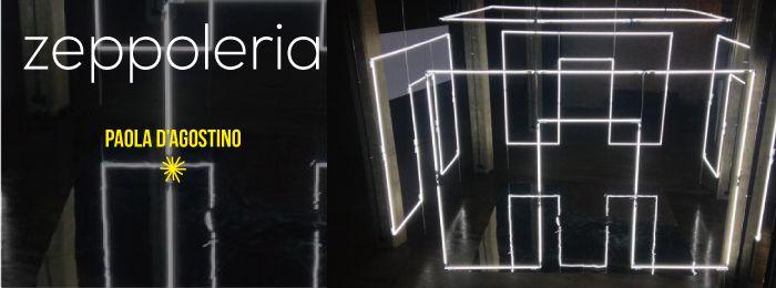 Su un'installazione di Massimo Uberti per la Villa Marittima Romana di Santa Croce a Sapri  Il futuro è come un filo di luce che sulla terraferma antica prova a costruire un'abitazione. Occhi da gigante e cuore di perla ci vogliono per abitare questo porticato vastissimo allo sguardo per sentire addosso la vita immane colosso …