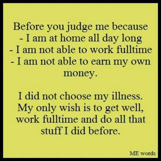 Most people don't usually judge me this way any more, but I sure judge myself like this sometimes.