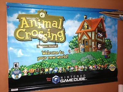 Animal Crossing GameCube promotional banner- vinyl sign